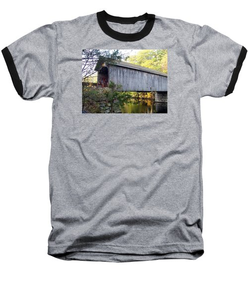 Babbs Covered Bridge In Maine Baseball T-Shirt by Catherine Gagne