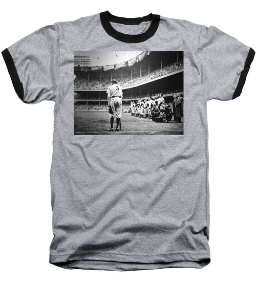 Babe Ruth Poster Baseball T-Shirt by Gianfranco Weiss