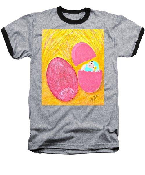 Baby Egg Baseball T-Shirt by Lorna Maza