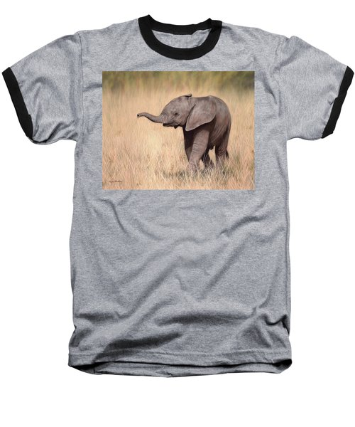 Elephant Calf Painting Baseball T-Shirt