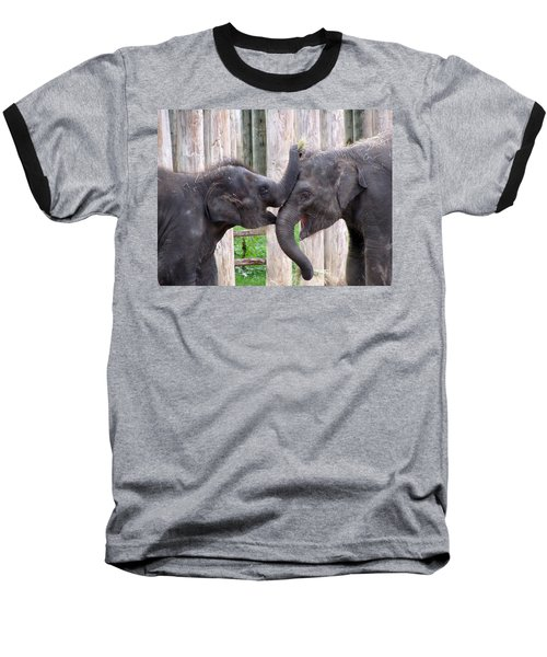 Baby Elephants - Bowie And Belle Baseball T-Shirt