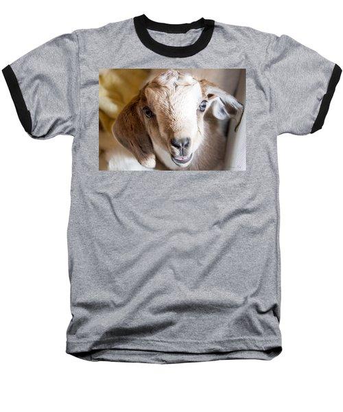 Baby Goat Face Baseball T-Shirt
