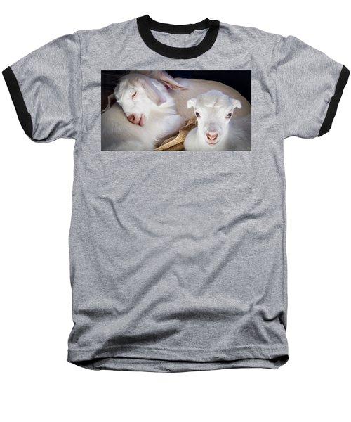 Baby Goats Napping Baseball T-Shirt