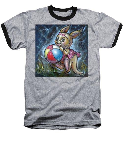 Baby Kangaroo 150911 Baseball T-Shirt by Selena Boron