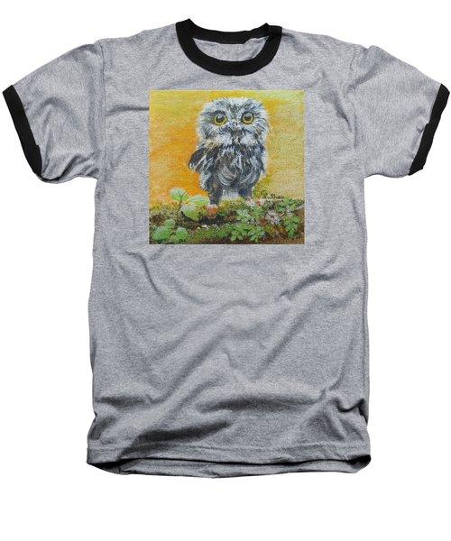 Baby Owl Baseball T-Shirt by Christine Lathrop