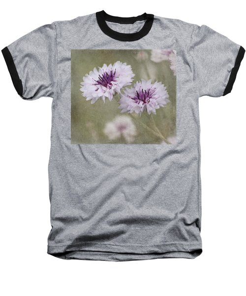 Bachelor Buttons - Flowers Baseball T-Shirt