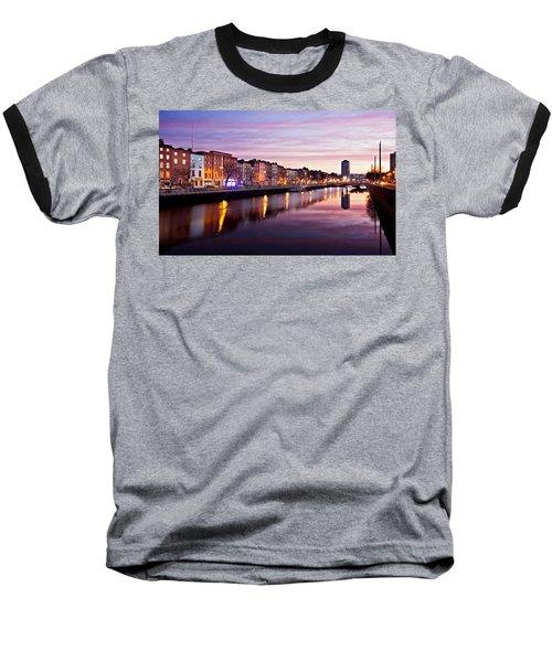 Bachelors Walk And River Liffey At Dawn - Dublin Baseball T-Shirt