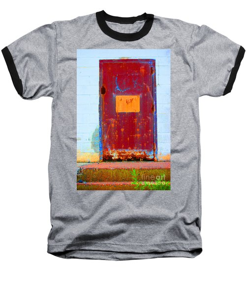 Back Door Baseball T-Shirt by Christiane Hellner-OBrien