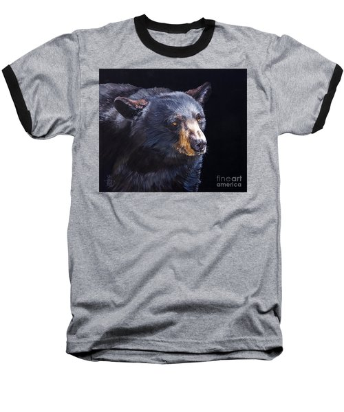 Back In Black Bear Baseball T-Shirt by J W Baker