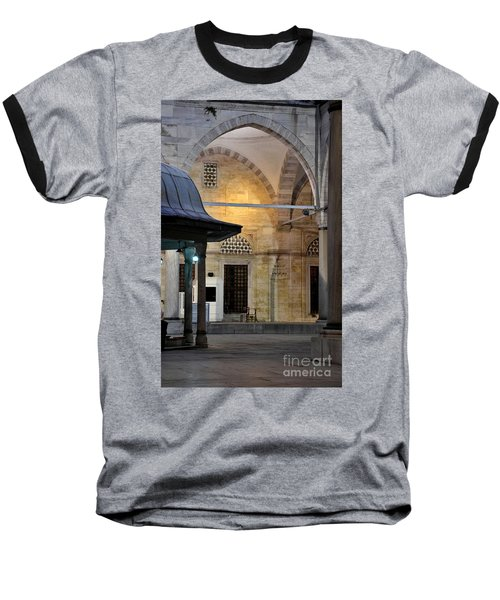 Baseball T-Shirt featuring the photograph Back Lit Interior Of Mosque  by Imran Ahmed