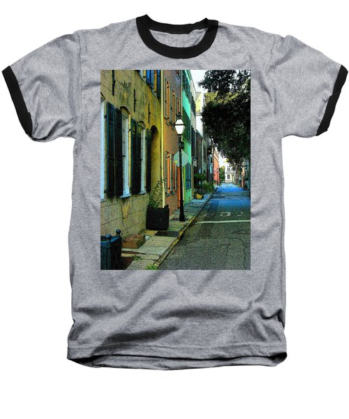 Baseball T-Shirt featuring the photograph Back Street In Charleston by Rodney Lee Williams