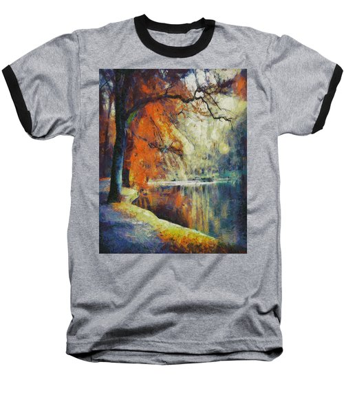 Baseball T-Shirt featuring the painting Back To Our Dreams by Joe Misrasi