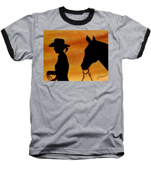 Baseball T-Shirt featuring the painting Back To The Barn by Julie Brugh Riffey