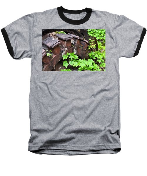 Baseball T-Shirt featuring the photograph Back To The Forest by Cathy Mahnke