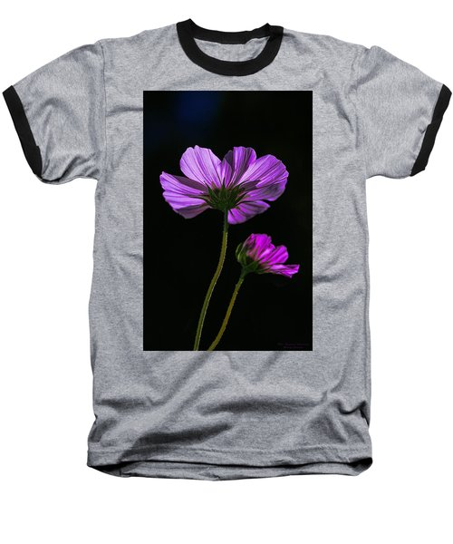 Backlit Blossoms Baseball T-Shirt