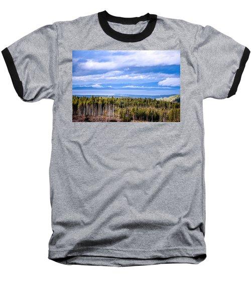 Johnstone Strait High Elevation View Baseball T-Shirt