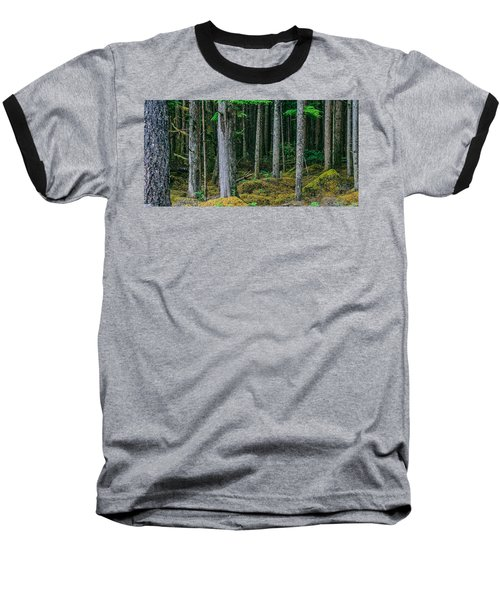 Inside View Backroad Forest Baseball T-Shirt