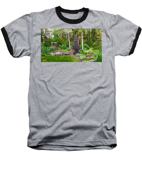 Backyard Garden In Loon Lake, Spokane Baseball T-Shirt