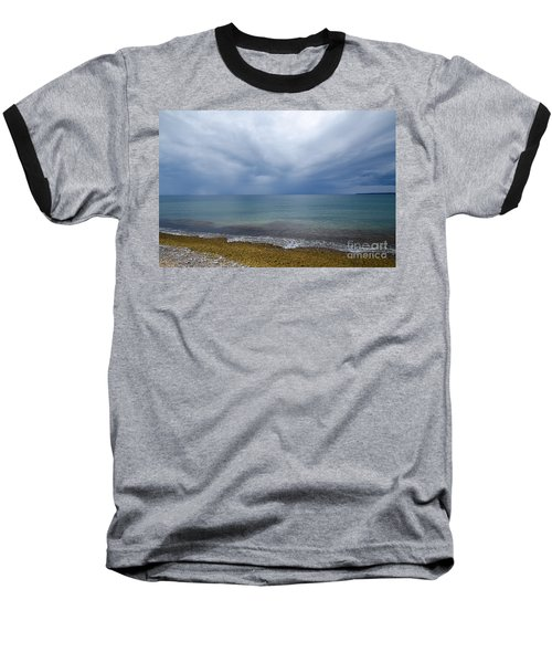Baseball T-Shirt featuring the photograph Bad Weather Approaching At The Coast by Kennerth and Birgitta Kullman