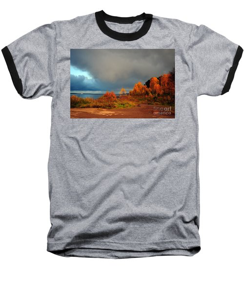 Baseball T-Shirt featuring the photograph Bad Weather Coming by Randi Grace Nilsberg