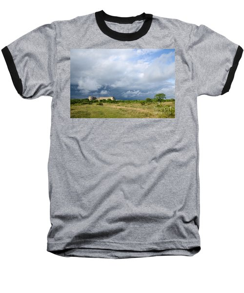 Baseball T-Shirt featuring the photograph Bad Weather Is Coming Up At  A Medieval Castle Ruin by Kennerth and Birgitta Kullman