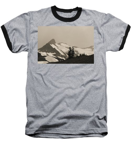 Baseball T-Shirt featuring the photograph Fog In Mountains by Yulia Kazansky