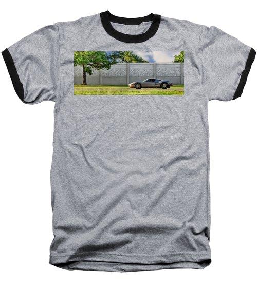 Badass Petunia Baseball T-Shirt by Sennie Pierson