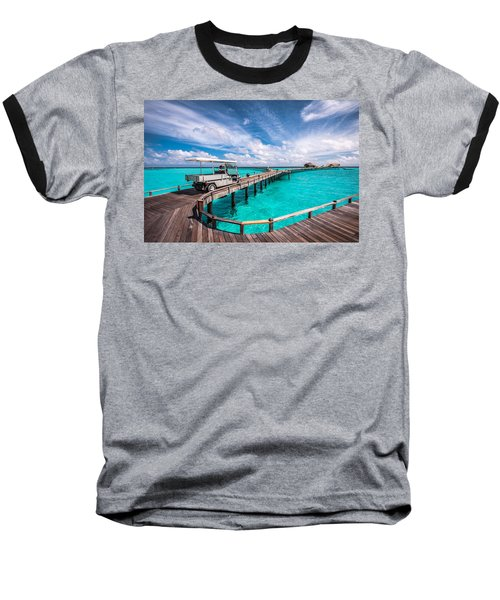 Baggy On The Jetty Over The Blue Lagoon Baseball T-Shirt