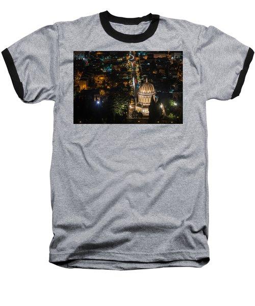 Baha'i Temple At Night Baseball T-Shirt