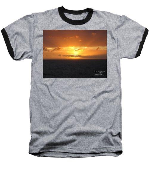 Bahamas Ocean Sunset Baseball T-Shirt by John Telfer