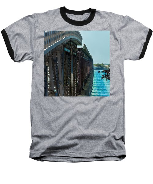 Bahia Honda Bridge Patterns Baseball T-Shirt