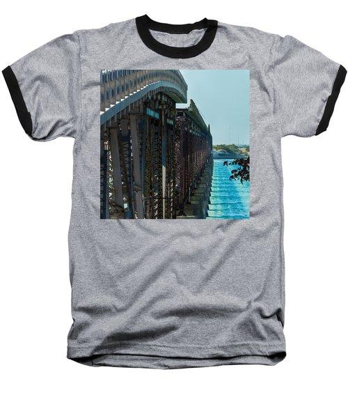 Bahia Honda Bridge Patterns Baseball T-Shirt
