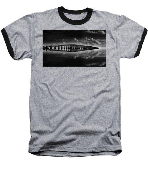 Bahia Honda Bridge Reflection Baseball T-Shirt by Kevin Cable