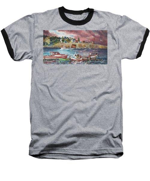 Bailey Island Cribstone Bridge Baseball T-Shirt