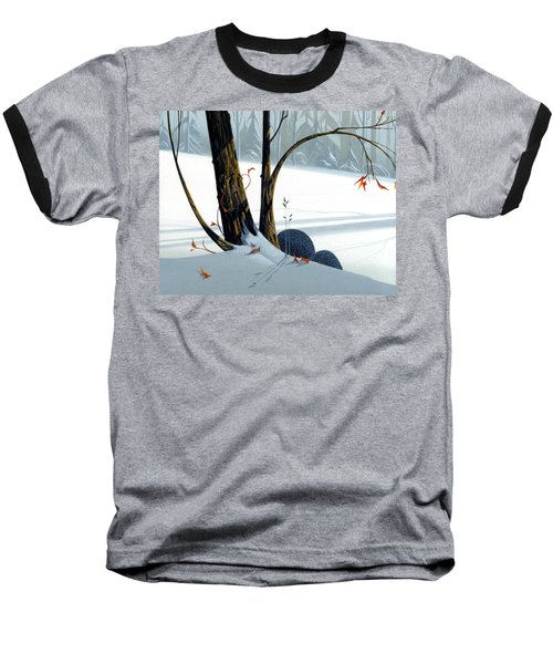 Baseball T-Shirt featuring the painting Balancing Act  by Michael Humphries