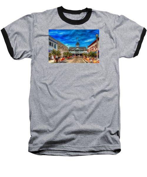 Balboa Pavilion Baseball T-Shirt by Jim Carrell