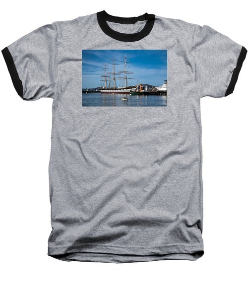 Rowing Past Balclutha And Steamship Eppleton Hall Baseball T-Shirt