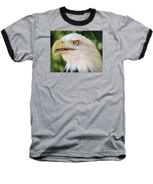 Baseball T-Shirt featuring the photograph American Bald Eagle Portrait - Bright Eye by Patti Deters