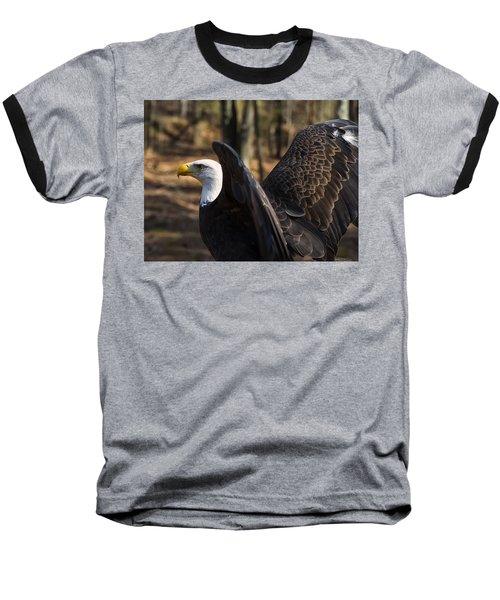 Bald Eagle Preparing For Flight Baseball T-Shirt by Chris Flees