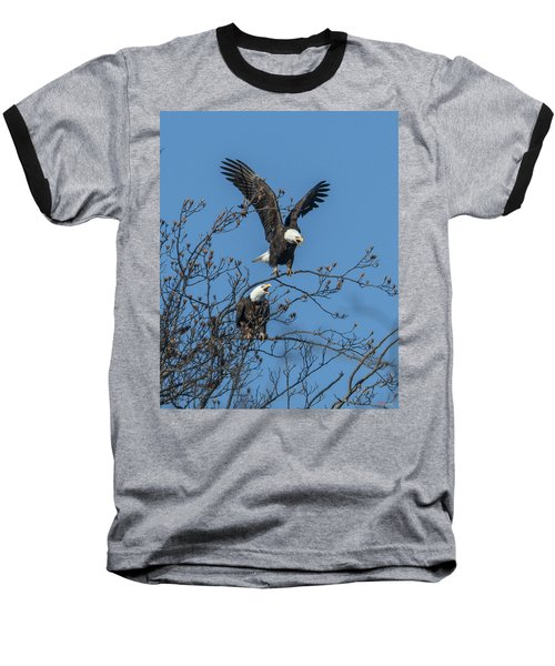 Bald Eagles Screaming Drb169 Baseball T-Shirt by Gerry Gantt