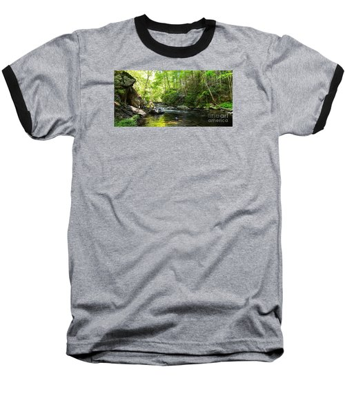 Baseball T-Shirt featuring the photograph Bald River by Paul Mashburn
