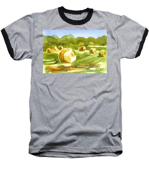 Bales In The Morning Sun Baseball T-Shirt