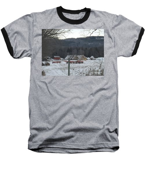Baseball T-Shirt featuring the photograph Bales Of Hay by Brenda Brown