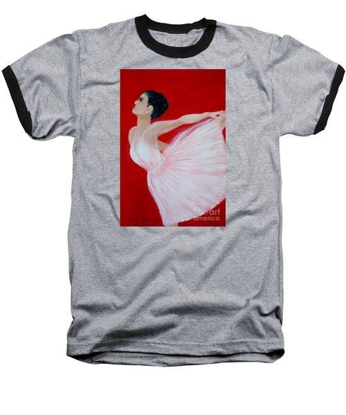 Ballerina.  Grace. Inspirations Collection Baseball T-Shirt by Oksana Semenchenko
