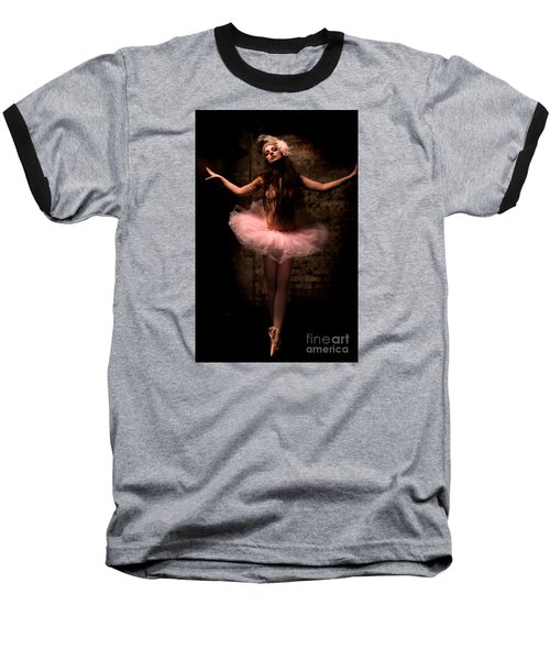 Ballerina Baseball T-Shirt by Tbone Oliver