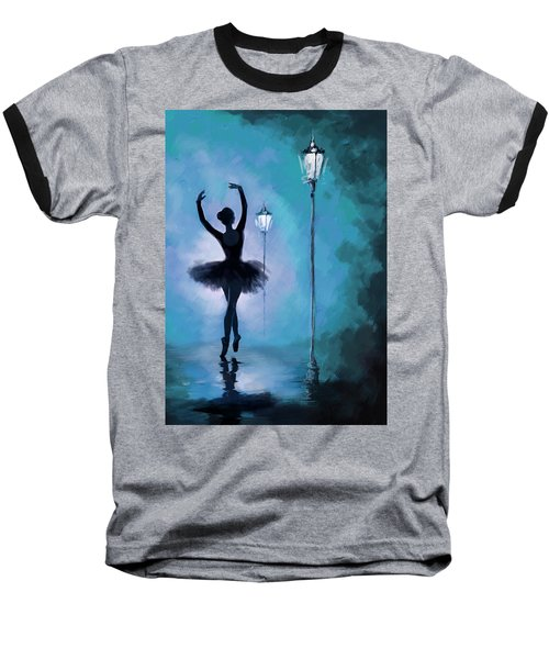 Ballet In The Night  Baseball T-Shirt