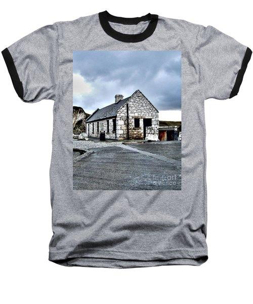Ballintoy Stone House Baseball T-Shirt by Nina Ficur Feenan