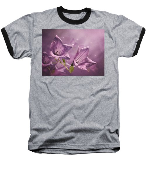Baseball T-Shirt featuring the photograph Balloon Flowers by Ann Lauwers