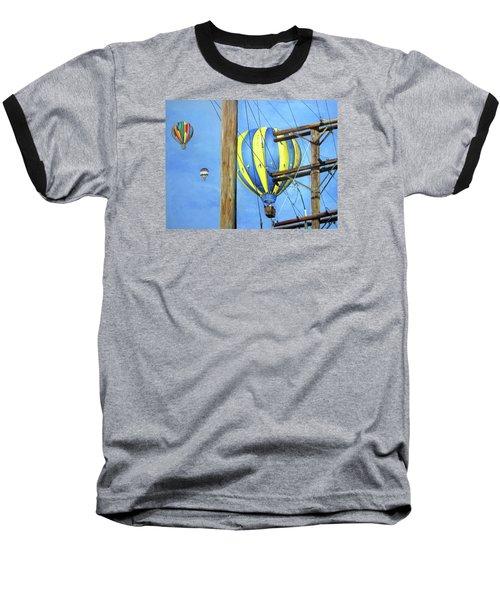Balloon Race Baseball T-Shirt