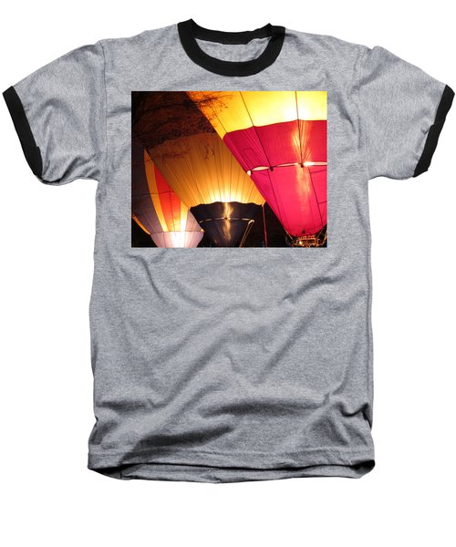 Balloons At Night Baseball T-Shirt